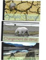 United Nations 2008   (3) Prestige BOOKLETS   CLIMATE CHANGE     NY, Geneva, Vienna - Emissions Communes New York/Genève/Vienne