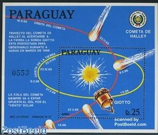 Paraguay 1986 Halleys Comet S/s, (Mint NH), Science - Astronomy & Astrology - Halley's Comet - Astronomie