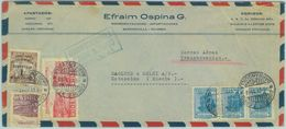 84266 - COLOMBIA - Overprinted Stamp On AIRMAIL COVER To SWEDEN 1958 - Kolumbien