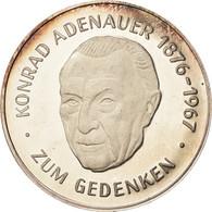 Allemagne, Médaille, Konrad Adenauer, Zum Gedenken, 1967, SPL, Argent - Altri