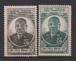 COTE DES SOMALIS   N°  YVERT  :   262/263   NEUF AVEC  CHARNIERES      ( CH   3 / 28 ) - Côte Française Des Somalis (1894-1967)