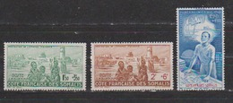 COTE DES SOMALIS   N°  YVERT  :  PA  8/10  NEUF AVEC  CHARNIERES      ( CH   3 / 28 ) - Côte Française Des Somalis (1894-1967)