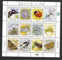 ILES MARSHALL 2011 PAPILLONS-INSECTES-FLEURS YVERT N°2682/93 NEUF MNH** - Butterflies