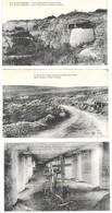 MILITARIA -  5 CARTES POSTALES 1914 1918, TUNNEL DE TAVANNES, DOUAUMONT POSTE DE MITRAILLEUSES, TRANCHEE, OSSUAIRE..... - 1914-18