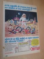 SPITIN20 : Page Revue TINTIN Années 60/70 : Rare  PUBLICITE CHOCOLAT CEMOI CONCOURS LUNE ESPACE - Chocolat