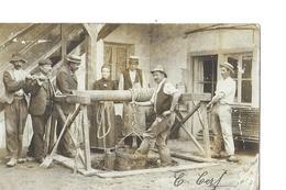 CARTE PHOTO   PERSONNAGES   OUVRIERS  PUITS  GROS PLAN 2 Choix Defaut PAPIER - Postcards