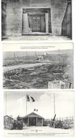 MILITARIA -  4 CARTES POSTALES 1914 1918, FORT DE SOUVILLE, TRANCHEE DES BAIONNETTES, TOMBE DU GENERAL ANSELIN..... - 1914-18