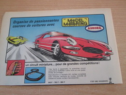 SPITIN20 Pour  Collectionneurs  PUBLICITE 60/70 ;  Format A5  CIRCUIT MINIATURE AURORA Plastifiable Sur Demande - Circuits Automobiles