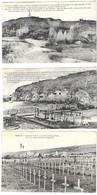 MILITARIA -  4 CARTES POSTALES 1914 1918, VERDUN DOUAUMONT TOURELLE DE 155, FORT DE VAUX, VERDUN CIMETIERE DE BRAS..... - 1914-18