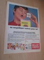 SPITIN20 Pour  Collectionneurs  PUBLICITE 60/70 ;  Format A4 ENTREMETS MILLIAT FRERES DIAPOSITIVES  Plastifiable Sur Dde - Publicidad