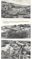 MILITARIA -  4 CARTES POSTALES 1914 1918, VERDUN LES CARRIERES D HAUDROMONT, TRANCHEE DES BAIONNETTES, FORT DE DOUAUMONT - 1914-18