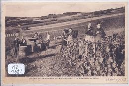 IRANCY- SCENE DE VENDANGE EN BOURGOGNE- LA CUEILLETTE DU RAISIN- LOCALISEE A IRANCY- RARE - Andere Gemeenten