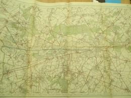 Militaire Topografische Kaart Mons Bergen 60op 84 Cm - Mapas Topográficas