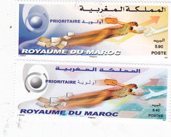 Morocco 2011, Priority Stamps 2v.compl Set MNH -Cat Mention Only 1 Stamp-Red. Price ( No Paypal & No Skrill) - Marokko (1956-...)