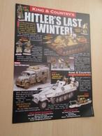 BACVERTCAGIBI Figurines KING & COUNTRY / Flyer 2 PP Recto Verso BIG BANG ,  MAGNIFIQUEMENT ILLUSTREES - Militares
