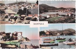 Dépt 66 - BANYULS - CPSM 9 X 14 Cm - Multi-vues (4 Vues) - 1987 - Cliché NARBO - Banyuls Sur Mer