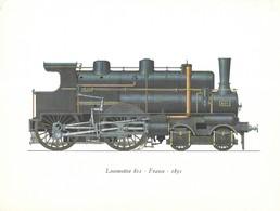 PUBLICITE LABORATOIRES ROUSSEL PARIS - EMA 1963 POUR PHARMACIE A ROUBAIX - ILLUSTRATION LOCOMOTIVE 801 FRANCE 1891 - Ferrocarril