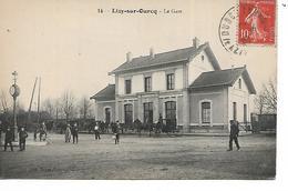 77 - LIZY SUR OURCQ - La Gare  (gare Extérieure Animée) - Lizy Sur Ourcq