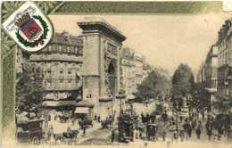 PARIS Le Boulevard St Denis Diligence Attelages Fiacres + Blason De La Ville De Paris RV - Arrondissement: 10