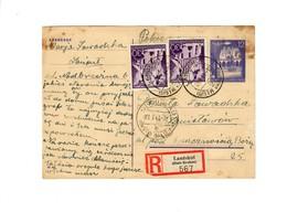 Ganzsache GG P 12 02: 18.5.43 Einschreiben Landshut Nach Stanislau - Occupation 1938-45