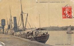 """C P A """" DAHRA  """" CONSTRUIT EN 1891 BORDEAUX A QUAI  Delmas FRERES 1900 1915 COULE - Commerce"""