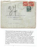 GANDON 6FR ORANGE X2+2FR PNEUMATIQUE MANQUE UN RABAT PARIS 1976 TARIF 3EME - 1945-54 Marianne Of Gandon
