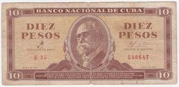 Cuba P 96 A - 10 Pesos 1961 Che Guevara Signature - Kuba