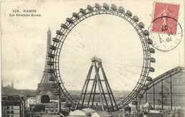 PARIS  La Grande Roue Et Au Loin La Tour Eiffel RV  RV - Arrondissement: 07