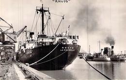 """C P S M  """" RHUYS   """" SOCIETE NATIONALE DELMAS VIELJEUX 1947 LA ROCHELLE - Commerce"""
