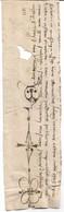 Fragment De Charte De 1399 Avec Dessin - Manuscritos