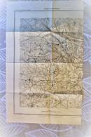 Carte Serv. Géograph Armée 1/ 20 000 -éditée 1930 Lyon Ouest ( Brindas, Craponne, Grézieux, Dardilly, Francheville ...) - Mapas Topográficas