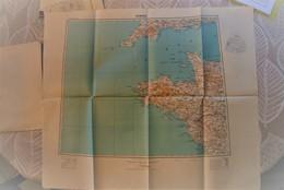 Carte IGN 1/ 1000 000 - Bretagne & Ouest Normandie 1944 - Bon état - Mapas Topográficas
