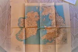 Carte IGN + Armée 1/ 1000 000 - Royaume Uni Irlande - United Kingdom Ireland 1944 - Good Condition - Mapas Topográficas