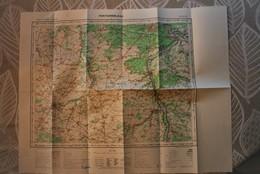 Carte IGN 1/100 000° FONTAINEBLEAU Feuille K9 Publiée 1957(Pithiviers, Puiseaux, Nemours, Moret, Malesherbes, Milly La F - Mapas Topográficas