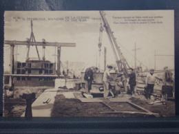 277 . MILITARIA . ZEEBRUGGE . TRAVAUX ENNEMIS EN BETON ARME POUR PROTEGER LES HANGARS DES SOUS MARINS - Guerre 1914-18