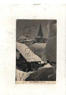 Montgenèvre (05) : Une Rue Enneigée Près De L'église Fontaine En 1935 PF. - Francia