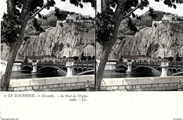 Grenoble. Vue Stereo Du Pont De L'esplanade. - Grenoble