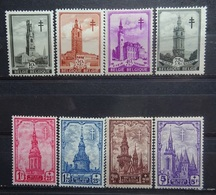 BELGIE 1939    Nr. 519 - 526   Scharnier *    CW  25,00 - Belgium