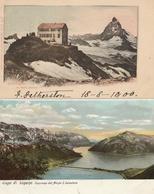 SUISSE - Lot De 4 CPA : Gornergrat - Lago Di Lugano - Interlaken - Axenstein - Sin Clasificación