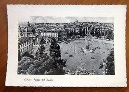 ROMA Piazza Del Popolo Auto Cars Cartolina 1961  Viaggiata - Places & Squares