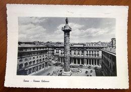 ROMA Piazza Colonna - Auto Bus Cars Cartolina 1961  Viaggiata - Places & Squares