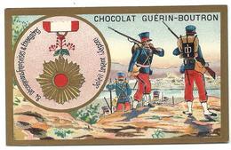 CHROMO ANCIEN  - Médaille Soleil Levant (JAPON) - Publicité GUÉRIN-BOUTRON - Autres