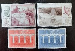 ESPAGNE   Europa 1981 Et 1982   N° Y&T  2243, 2244, 2285 Et 2286  ** - 1981-90 Unused Stamps