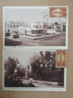 Maroc - 2 Cartes Postales : Direction Des Affaires Chérifiennes Et Une Villa - Cartes Circulées En 1933 - Daguin - Marokko (1956-...)