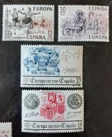 ESPAGNE   Europa 1983 Et 1984   N° Y&T  2319, 2320, 2367 Et 2368  ** - 1981-90 Unused Stamps