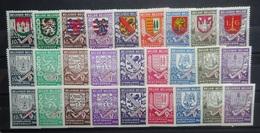 BELGIE 1940    Nr. 538 - 546 / 547 - 555 A      Spoor Van Scharnier *     CW  35,00 - Belgium