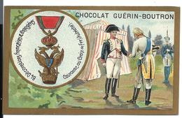 CHROMO ANCIEN  - Médaille Couronne Ou Croix De Fer (AUTRICHE) - Publicité GUÉRIN-BOUTRON - Autres