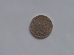 Austria 1 Fl Florin 1885 Silver Franz Joseph I Ferencz Jozsef - Austria