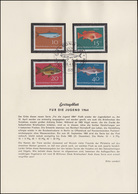 412-415 Für Die Jugend - Fische, Satz Auf Ersttagsblatt ESSt BONN 10.4.1964 - Fishes