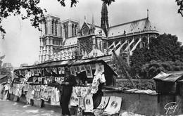 CPSM - 75 - Paris -  Bouquiniste De La Rive Gauche Et Cathédrale Notre Dame - Notre Dame De Paris
